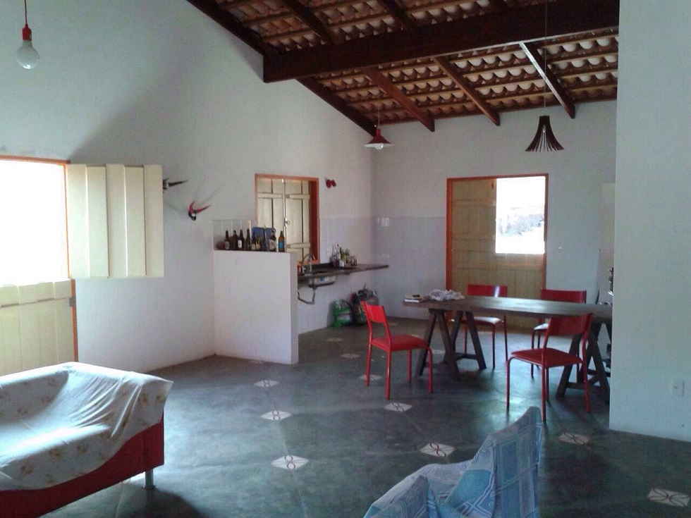 Sala e cozinhas conjugadas